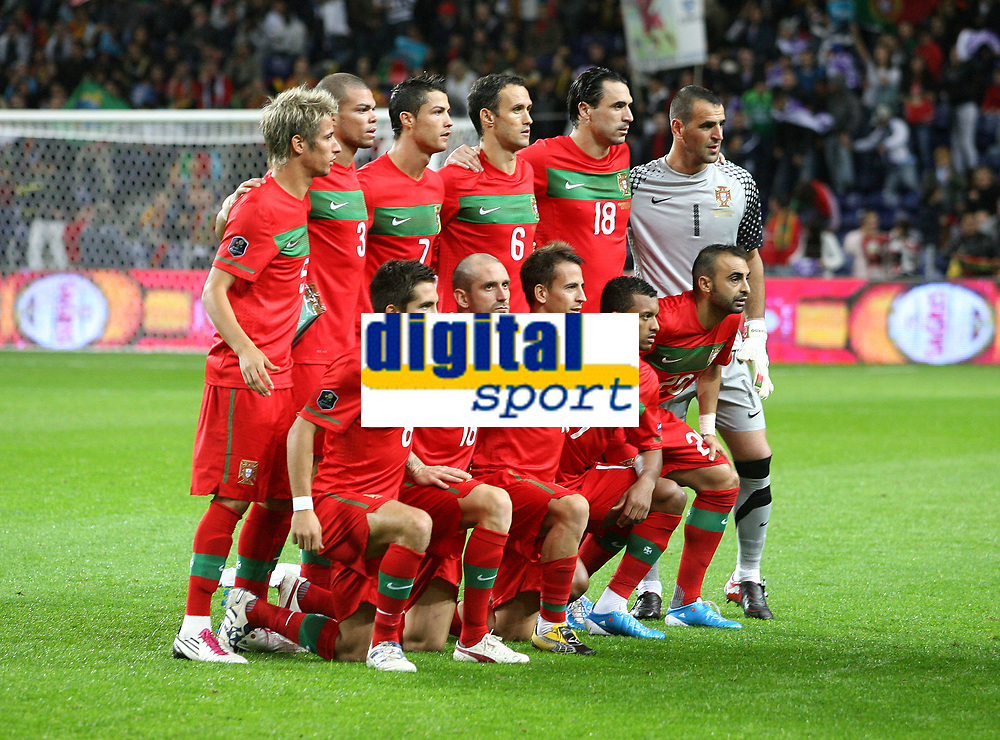 20101008: PORTO, PORTUGAL - Portugal vs Denmark: UEFA EURO 2012 Qualifying - Group H - Round 3. In picture: Portugal team. PHOTO: Manuel Azevedo/CITYFILES