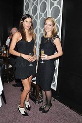 Left to right, ZARA SIMON and VANESSA STORY at a dinner hosted by Marcus Wareing and Johnnie Walker Blue Label in The Private Dining Room, Marcus Wareing at The Berkeley, Wilton Place, London on 7th November 2012.