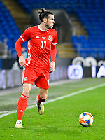 Football - 2019 / 2020 International Friendly - Wales vs. Belarus<br /> <br /> Gareth Bale of Wales on the ball, at Cardiff City Stadium.<br /> <br /> COLORSPORT/WINSTON BYNORTH