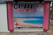 Doctor Arzt, private medical services Costa Calma resort, Fuerteventura, Canary Islands, Spain