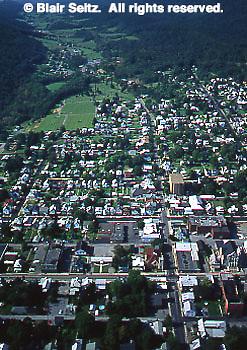 Southwest PA Aerial, Mt. Union, Huntingdon Co., Aerial Photograph Pennsylvania
