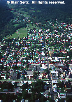 Southwest PA Aerial, Mt. Union, Huntingdon Co., Aerial Photograph Pennsylvania