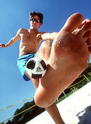 Footbag / Hacky Sack. Leisure - Koln. 8 June 2000. Photo: Sport the library/PHOTOSPORT