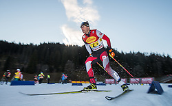 20.12.2014, Nordische Arena, Ramsau, AUT, FIS Nordische Kombination Weltcup, Staffel Langlauf, im Bild Bernhard Gruber (AUT) // during Cross Country of FIS Nordic Combined World Cup, at the Nordic Arena in Ramsau, Austria on 2014/12/20. EXPA Pictures © 2014, EXPA/ JFK