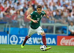 MOSCOW, RUSSIA - Sunday, June 17, 2018: Mexico's Hector Moreno during the FIFA World Cup Russia 2018 Group F match between Germany and Mexico at the Luzhniki Stadium. (Pic by David Rawcliffe/Propaganda)