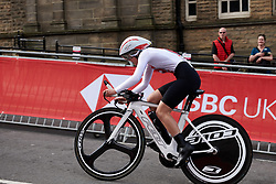Noemi Ruegg (SUI) at UCI Road World Championships 2019 Junior Women's TT a 13.7 km individual time trial in Harrogate, United Kingdom on September 23, 2019. Photo by Sean Robinson/velofocus.com