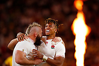 Rugby Union - 2019 Rugby World Cup - Quarter-Final: England vs. Australia<br /> <br /> Anthony Watson of England celebrates at Oita Stadium, Oita Prefecture.<br /> <br /> COLORSPORT/LYNNE CAMERON