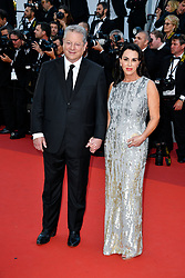 Al Gore, Elizabeth Keadle attending the Soiree 70eme Anniversaire during the 70th Cannes Film Festival on May 23, 2017 in Cannes, France. Photo by Julien Zannoni/APS-Medias/ABACAPRESS.COM