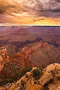 Sunset near Powell Point, Grand Canyon National Park.