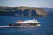 M.V. Hebrides departing Uig bay on it's way to the Isle of Harris.