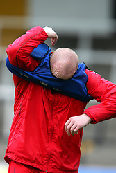 SWANSEA, WALES - TUESDAY MARCH 22nd 2005: Wales' John Hartson during training at Swansea City's Vetch Field Stadium. (Pic by David Rawcliffe/Propaganda)