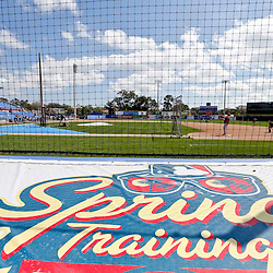 Mar 5, 2013; Dunedin, FL, USA; A detail of a spring training logo as Baltimore Orioles workout before a spring training game against the Toronto Blue Jays at Florida Auto Exchange Park. Mandatory Credit: Derick E. Hingle-USA TODAY Sports