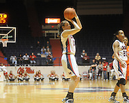 "Ole Miss' Elizabeth Robertson vs. Auburn in women's college basketball at the C.M. ""Tad"" SMith Coliseum in Oxford, Miss. on Thursday, February 25, 2010."