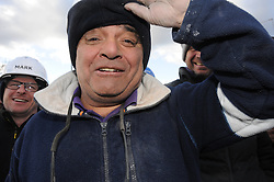 © Licensed to London News Pictures. 12/03/2013.The BBC's DIYSOS team are in Orpington, Kent this week till the (21.03.2013). Nick Knowles and the team of builders  which includes local tradesmen arrived on the (12.03.2013) to help build a family in need a new home..Billy Byrne - Electrician.Photo credit : Grant Falvey/LNP