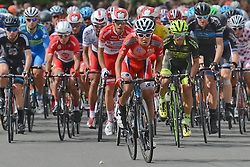 September 16, 2016 - Wuhan, China - Riders at the start of the first lap during the final sixth stage, 99.6km Wuhan Xinzhou Circuit race, of the 2016 Tour of China 1...On Friday, 16 September 2016, in Xinzhou, Wuhan , China. (Credit Image: © Artur Widak/NurPhoto via ZUMA Press)