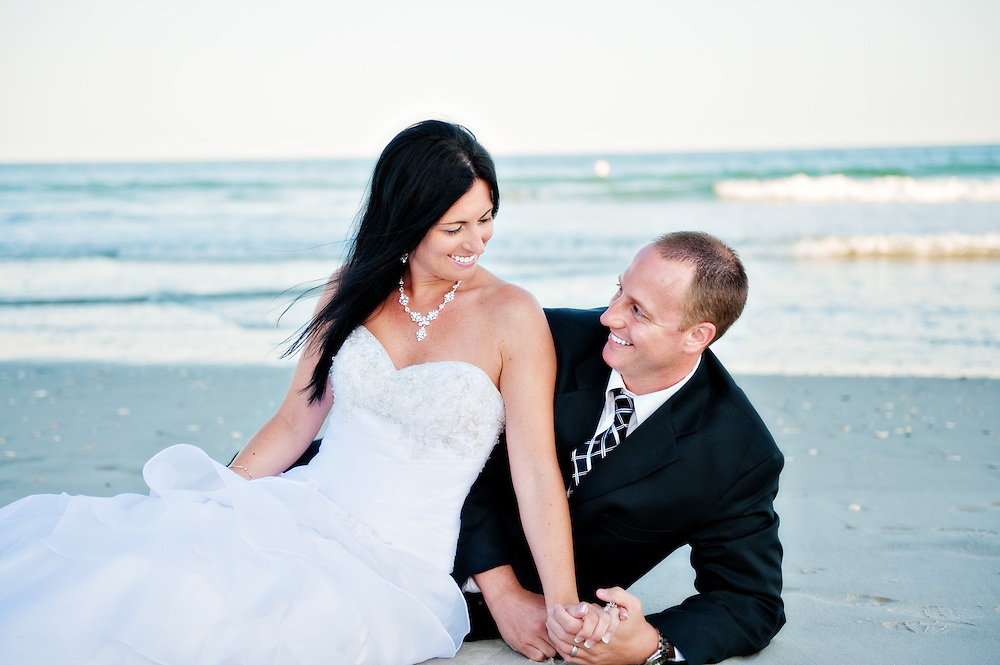 Bride and Groom in the Sand