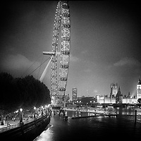 London Eye and Houses of Parliament, london, uk