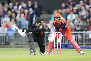Leicestershire Foxes Harry Dearden  during the Vitality T20 Blast North Group match between Lancashire Lightning and Leicestershire Foxes at the Emirates, Old Trafford, Manchester, United Kingdom on 30 August 2019.