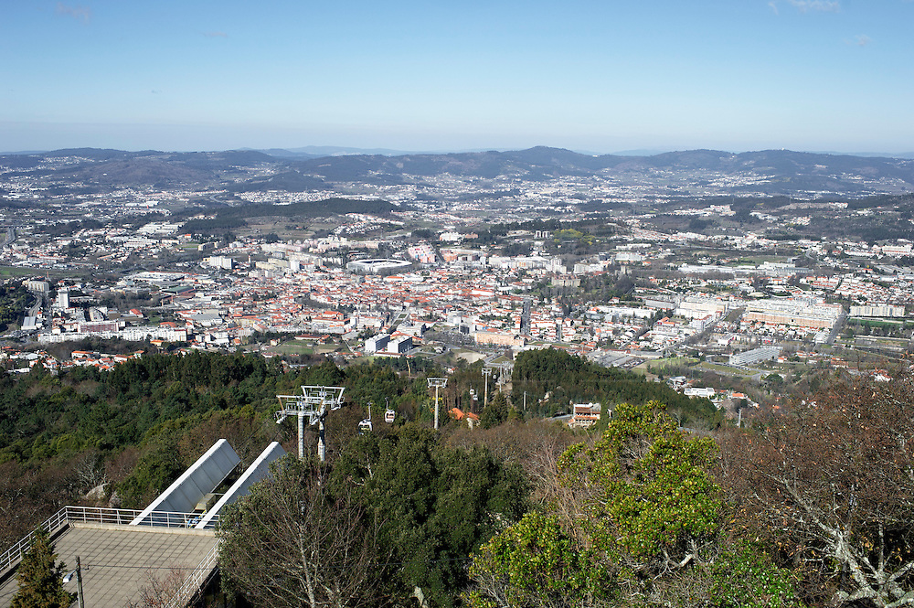 A view of Guimarães from the Santuario da Penha