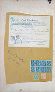 French stamps of a fragment of an envelope posted in 1901