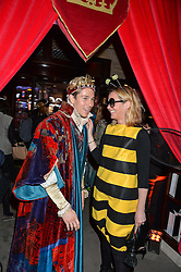 JOEY ESSEX and editor of Tatler KATE REARDON at the Tatle Magazine's Kings & Quens party held at Savini at Criterion, Piccadilly, London on 1st June 2016.
