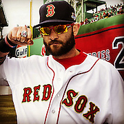 April 4, 2014, Boston, MA:<br /> during the Boston Red Sox World Series ring ceremony at the 2014 season home opener at Fenway Park. <br /> (Photo by Billie Weiss/Boston Red Sox)
