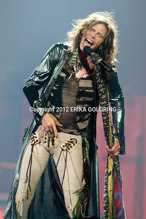 Steven Tyler of Aerosmith performs at the New Orleans Arena on Thursday, December 6, 2012, in New Orleans. (Erika Goldring Photo)
