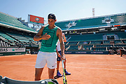Rafael Nadal (ESP) at practice on on Philippe Chatrier tennis stadium during the Roland Garros French Tennis Open 2017, preview, on May 25, 2017, at the Roland Garros Stadium in Paris, France - Photo Stephane Allaman / ProSportsImages / DPPI