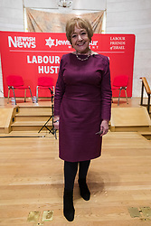 © Licensed to London News Pictures. 13/02/2020. London, UK. Dame Margaret Hodge MP at the Jewish Labour Movement (JLM) Labour Party leadership hustings held at the Liberal Jewish Synagogue in St John's Wood. The JLM will announce its leadership nomination on Friday February 14th. Photo credit: Vickie Flores/LNP