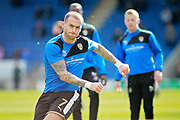 Notts County forward Lewis Alessandra (7) warming up before the EFL Sky Bet League 2 match between Chesterfield and Notts County at the Proact stadium, Chesterfield, England on 25 March 2018. Picture by Nigel Cole.