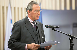 Clemens Koja, ambassador of Austria during presentation of Slovenian Young Athletes before departure to EYOF (European Youth Olympic Festival) in Vorarlberg and Liechtenstein, on January 21, 2015 in Bled, Slovenia. Photo by Vid Ponikvar / Sportida