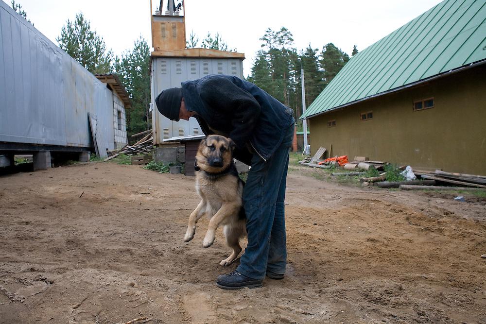 A rehabilitation program for drug addicts in Sapernoe, Russia, on September 15, 2007.
