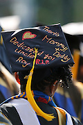 Danielle Joyner of Brooklyn, N.Y. listens during the University of Rochester's Commencement Ceremony on Sunday, May 18, 2014.