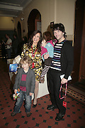 Melinda Messenger, Morgan, Evie and Wayne Roberts, Cirque de Soleil Premiere of Alegr'a. Royal Albert Hall. London. 5 January 2006.  -DO NOT ARCHIVE-© Copyright Photograph by Dafydd Jones. 248 Clapham Rd. London SW9 0PZ. Tel 0207 820 0771. www.dafjones.com.