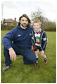 Sale Sharks Premier rugby camp at Stockport. 19-04-2006. Pics with Players
