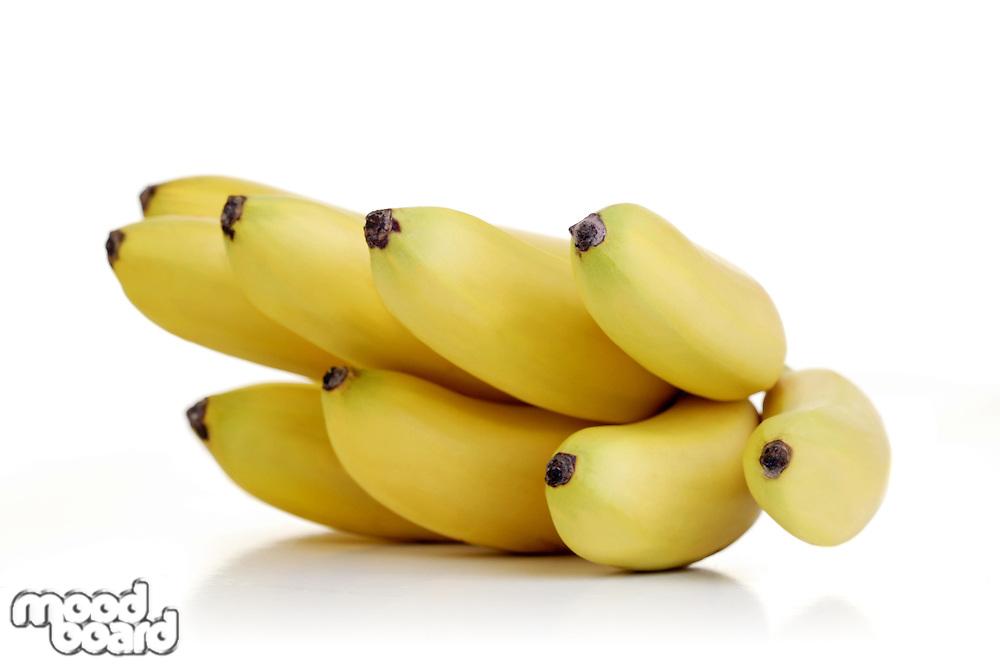 Studio shot of small bananas