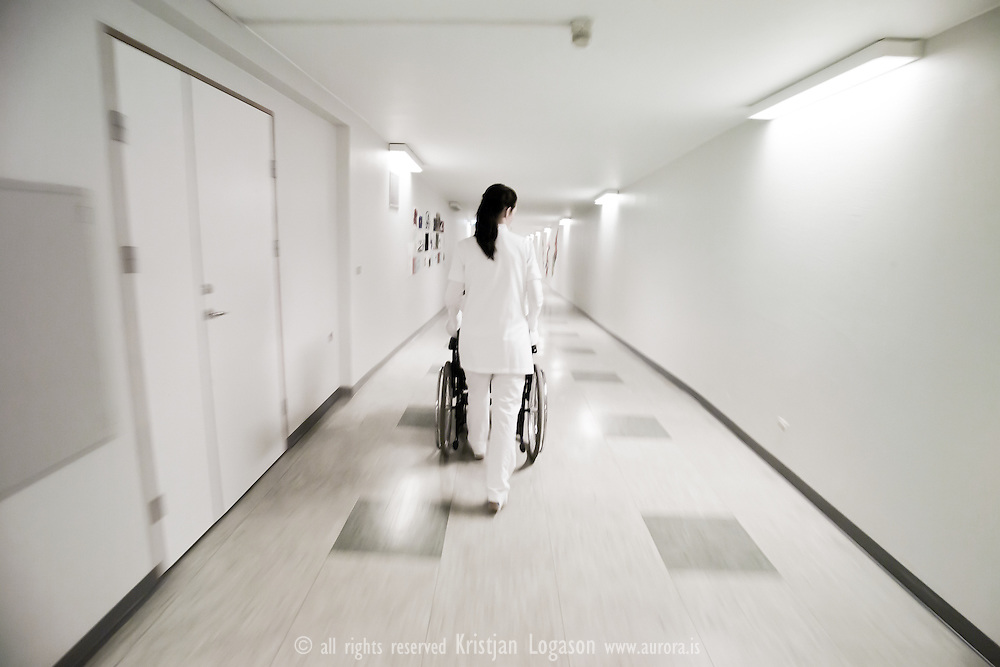 It varies how people cope with fear. One of the places I do not like is the hospital..It is in fact quiet ironic as my wife is a critical care nurse and has been working as such since we met..When our daughter had to be rushed to the hospital one day, one of my first thoughts was to grab the camera. For some Photographers the camera is a good defense mechanism. In some situations I am much more at ease behind the camera than with out it. I feel more in control of the situation. Of course I have had situations where I felt highly uncomfortable taking pictures and that is probably among the reasons why I am not a press Photographer as I started out to be..This time I grabbed the camera with out thinking and while our daughter was being examined by the doctors and we where waiting for the results I wandered around the corridors, snapping away trying to relax..This is the feeling I got from the hospital that day.