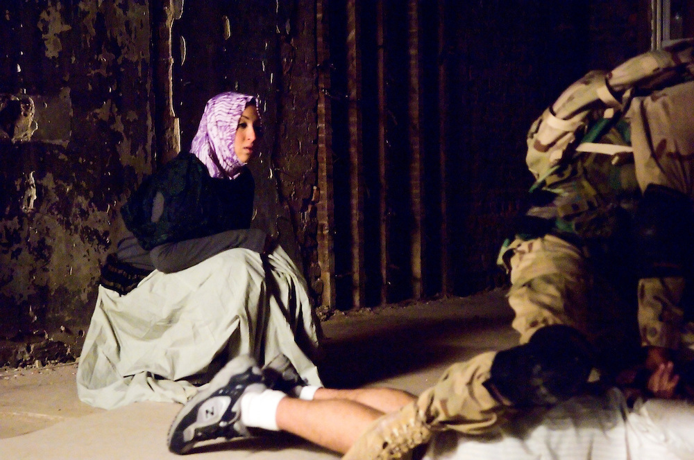 """Stills from the set of """"Memorial Day"""", an independent movie exploring the psychology of American soldiers and the Abu Ghraib scandal; written and directed by Josh Fox, with  Josh Fox, Nick Konow, David Skeist, Johnnie Green, Caitlin Kronk and Robert Saietta; executive produced by Jim McKay and Michael Stipe of C-100 Films; associate produced by Morgan Jenness and Laura Wagner."""