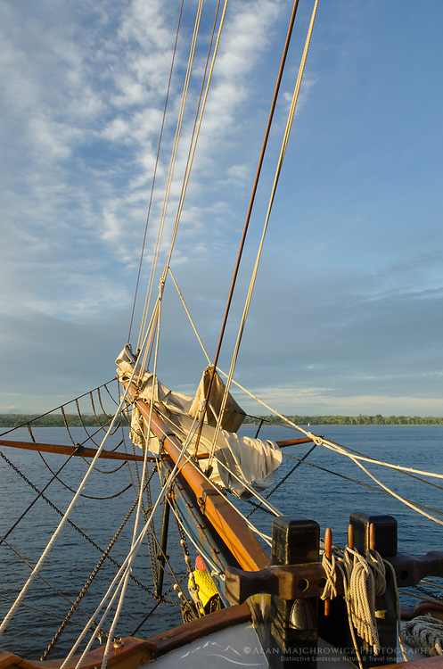 Bowsprit of Hawaiian Chieftan, a Square Topsail Ketch. Owned and operated by the Grays Harbor Historical Seaport, Aberdeen, Washington