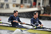 Putney, GREAT BRITAIN,  left Tyler and right Cameron WINKLEVOSS,  during the  2010  Varsity/Oxford University  vs Leander Club, raced over the championship course. Putney to Mortlake, Sat. 20.03.2010. [Mandatory Credit, Peter Spurrier/Intersport-images]