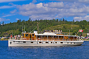 Vinatge wooden boat<br /> Kenora<br /> Ontario<br /> Canada