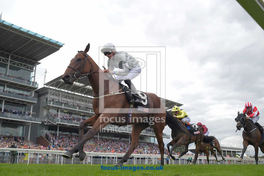 Threading ridden by James Doyle wins Clipper Logistics Lowther Stakes on day two of the Ebor Festival at York Racecourse, Yorkshire<br /> Picture by Martin Lynch/Focus Images Ltd 07501333150<br /> 24/08/2017