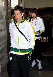 Robert Koren of Slovenia at departure of Slovenia National team from Southern Sun Hyde Park Hotel to airport for flight home after the last 2010 FIFA World Cup South Africa Group C  match between Slovenia and England on June 25, 2010 at Southern Sun Hyde Park Hotel, Johannesburg, South Africa. (Photo by Vid Ponikvar / Sportida)