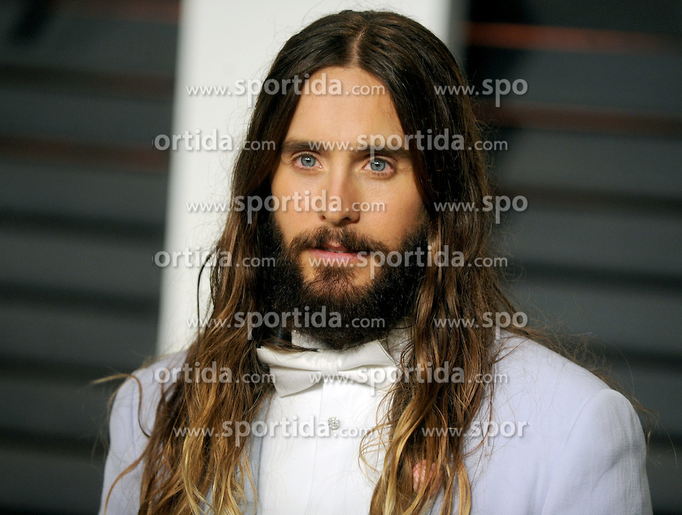Jared Leto in attendance for 2015 Vanity Fair Oscar Party Hosted By Graydon Carter at Wallis Annenberg Center for the Performing Arts on February 22, 2015 in Beverly Hills, California. EXPA Pictures &copy; 2015, PhotoCredit: EXPA/ Photoshot/ Dennis Van Tine<br /> <br /> *****ATTENTION - for AUT, SLO, CRO, SRB, BIH, MAZ only*****