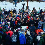 Spectators watch as beers get served during the 2015 Gelande Quaff.