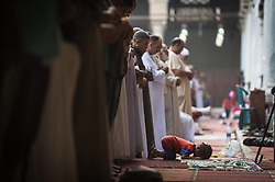 Image ©Licensed to i-Images Picture Agency. 28/07/2014. Cairo, Egypt. <br /> 61981776<br />  Eid al-Fitr festival at a mosque in Cairo, Egypt, on July 28, 2014. Egyptian Muslims on Monday celebrate the Eid al-Fitr festival that marks the end of the fasting month of Ramadan. Picture by  imago / i-Images<br /> UK ONLY
