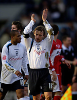 Photo: Jed Wee.<br /> Preston North End v Middlesbrough. The FA Cup. 19/02/2006.<br /> <br /> Preston captain Paul McKenna applauds the fans at the end of the game.