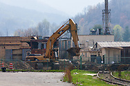 Reaganomics, Globalism or recession this Waynesville NC factory once employed 1100 citizens of Waynesville NC and is being demolished to make room for a low wage store to sell Asian imports.