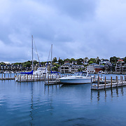 """""""Beautiful Charlevoix""""<br /> <br /> Lovely scene in Charlevoix Michigan gazing out at the marina and beyond to the beautiful homes surrounding the lake!"""