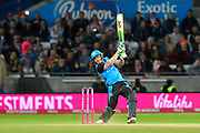 Ben Cox of Worcestershire plays an attacking shot during the final of the Vitality T20 Finals Day 2018 match between Worcestershire Rapids and Sussex Sharks at Edgbaston, Birmingham, United Kingdom on 15 September 2018.